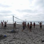 VOLLEYBALL TOURNAMENT with staff and guests