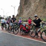 Cicloturismo en el borde costero de Arica, también podemos llevar niños