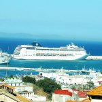 Cruise in the port of tangier