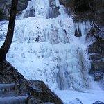 L'éventail, cascade du Hérisson gelée
