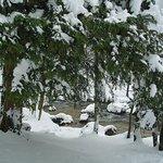 neige sur le parcours des cascades