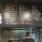 Menu board at A Fish Called Coogee.