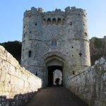 Enter Carisbrooke Castle ..