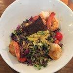 Kale Caesar with Grilled Shrimp