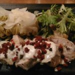 assiette servie dans leur restaurant filet mignon aux chorizos