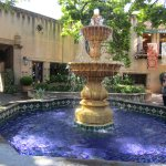 Centered water fountain