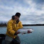 Big Late season rainbow fishing is Excellent