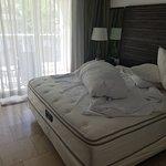 Bed dishoveled