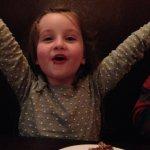 Granddaughter enjoying dessert!