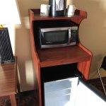 Room 424 microwave and fridge