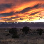 Sunset view of the Sangre de Christo Mtns.