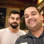 When good food meets in a plate they can't resist to come back ... with Indian cricket team capt