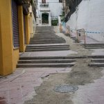 Drainage works on the steps up to Calle San Migue