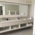 Spacious double vanity