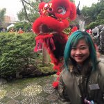 Upclose and personal with Lion Dancers