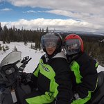 Snowmobiling in National Forest