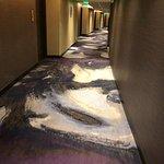 Aria Resort hallway carpet