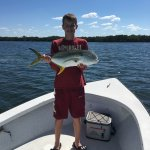 Nathanial with a nice Jack fish...