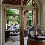 View from Tasting Room toward Patio