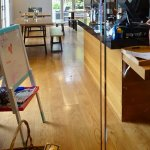 Espresso Coffee Bar, with Toys and Easel for the Kids