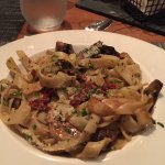 Pasta with sun dried tomatoes and mushrooms