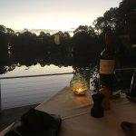 Dining at dusk at Cape Lodge, Yallingyup