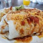 Breakfast burrito enchilada style