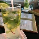 Mojitos at the bar