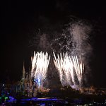 Fireworks at Magic Kingdom from Top of the World
