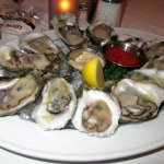 12 oysters on the halfshell ($23.95) Tuscaloosa and served with horseradish and cocktail sauce