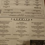 Great menu.  Dated each day to show the fresh catch