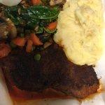 Sirloin - rubbed w/ aji panca, garlic & smoked applewood sea salt w/veggies & yellow pepper pota