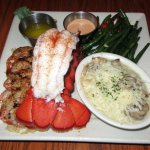 Trident's Trio $25 pan sautéed lump crab cake grilled tiger shrimp & lobster tail