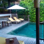 our private pool deck