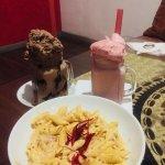 desserts and pasta