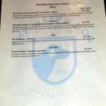 Featured wines menu
