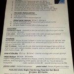 Oyster menu