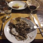 Pasta with black truffle sauce