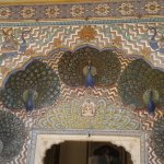 Peacock doorway