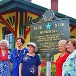 This is the Blue Star marker that was present to us, the former members of our local Army Nation