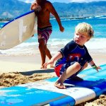 Family Surfing, everyone gets to be apart of the fun with the Surf Instructor