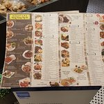 Menus are simple but packed