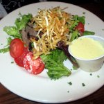 Steak Salad $14 Jameson's sirloin with bleu cheese, tomatoes, potato crispies, dijon vinaigrette