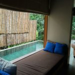 private pool outside window
