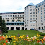 Magnificent Fairmont Chateau Lake Louise and the stunning gardens.