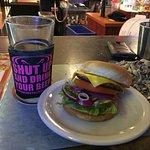 Three dollar Bar Burger and two dollar pint.