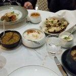 Lasan main course - Hyderabadi Biryani with goat, halibut, dall