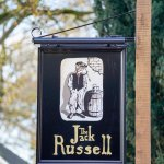 pub sign at The Jack Russell Inn