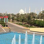 Sheikh Zayed Grand Mosque in walking distance