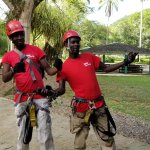 Thanks Bones and Blemish you made our zip lining experience FUN!  Thanks Otis&Recardo our Bamboo